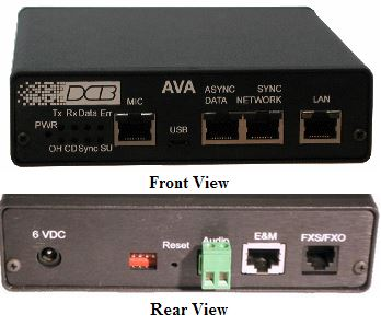 DCB AVA-01 Analog Voice Adapter FXS, FXO, E&M, Audio Over